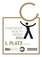 1. Platz Corporate Health Award 2012